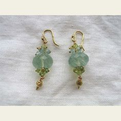 Gabrielle Sanchez: Faceted Fluorite and Gold Earrings