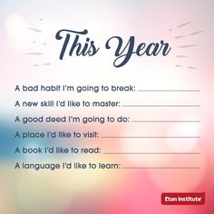 Make 2017 your best year yet. Fill in the blanks.