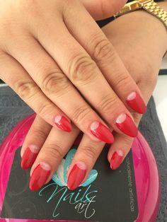 Acrylic Nails, red Nails, Nails art