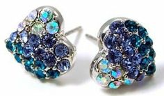 "Adorable Blue and AB Crystal Embellished Mini Heart Stud 3/8"" Stud Earrings Earrings by Glamour Girl Gifts, http://www.amazon.com/dp/B006C7LKC2/ref=cm_sw_r_pi_dp_.jfjrb152V7V6"
