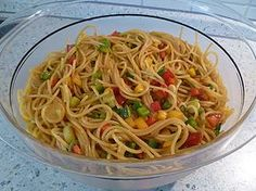 Spaghetti-Curry-Salat