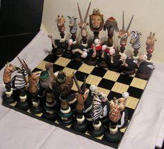 Animals of Africa Chess Set