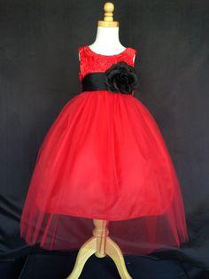 Burgundy NEW Christmas Fall Elegant Solid Toddler Girl Pageant Dress #35