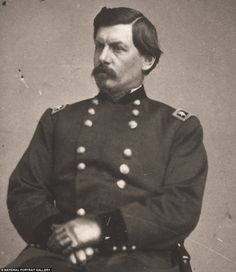 George B. McClellan (1826-1885) opposed Abraham Lincoln while in the Army, and stood against him in the 1864 election