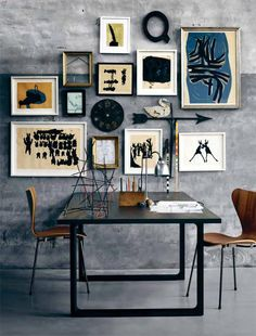 This is what I want! A wall of different sized framed photos/art, but HOW DOES ONE ORGANIZE THIS?!?