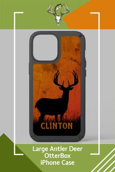 Custom OTTERBOX phone case. Large antler stag buck. CLICK TO ADD YOUR NAME! Hunting Home Decor, Iphone Ca, Synthetic Rubber, Deer Hunting, Antlers, Things To Come, Names, Phone Cases, Horns