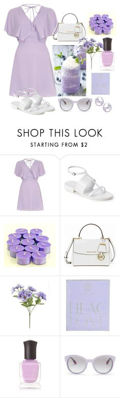 """Lilac Inspired"" by muskrosevintage ❤ liked on Polyvore featuring River Island, Jil Sander, Michael Kors, AMOUAGE, Deborah Lippmann and Vogue Eyewear"