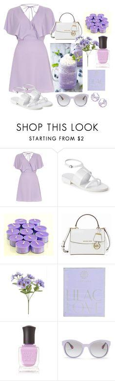 """Lilac Inspired"" by muskrosevintage ❤ liked on Polyvore featuring River Island, Jil Sander, Michael Kors, AMOUAGE, Deborah Lippmann and Vogue Eyewear"