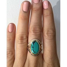 Supernova Turquoise Oval Ring - Mociun