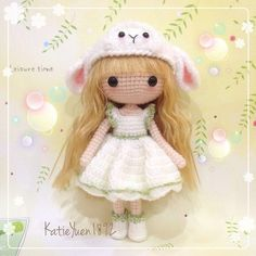 Instagram media katieyuenlj - ❤萌萌羊❤ Sweet little girl with her sheep hat ❤ #amigurumidoll #amigurumi #adorable #addicted #amigurumis #crocheting #crochet #cute #doll #häkeln #haken #hobby #handmade #handcraft #diy #kawaii #yarn #yarndoll #钩针