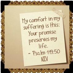 My Comfort in My Suffering.