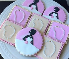 Diamond and Pearls Bridal Shower Custom Pink and Gold Decorated Cookies