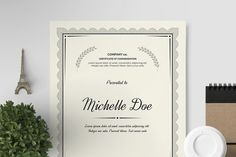 Certificate Template I by Print Forge on @creativemarket