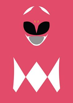 Power Rangers - Pink Ranger Minimalist Art Print by TracingHorses Power Rangers Rosa, Go Go Power Rangers, Power Ranger Party, Power Ranger Birthday, Mass Effect, Desenho Do Power Rangers, Powe Rangers, Mighty Morphin Power Rangers, Superhero Party