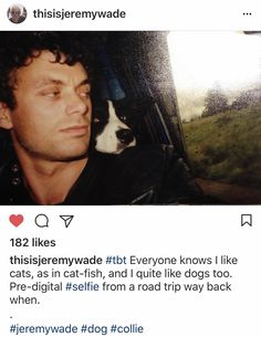 Young Jeremy Wade posts a pre-digital selfie. Jeremy Wade, John Wade, A Good Man, The Man, Wading River, River Monsters, Gary Oldman, Main Attraction, Marine Biology
