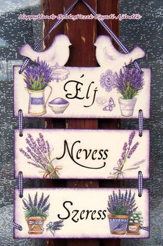 Levendulás ajtótábla Wood Crafts, Diy And Crafts, Decoration Shabby, Shabby Chic Art, Inspiration Artistique, Paper Mache Boxes, Decoupage Box, Diy Home Repair, Country Paintings