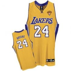 ece624d93f1 Kobe Bryant Authentic In Gold Adidas NBA Finals Los Angeles Lakers  24  Men s Home Jersey