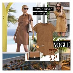 """""""Mini Dress as seen in Vogue"""" by stylepersonal ❤ liked on Polyvore featuring Steffen Schraut, Miu Miu, CÉLINE, Vans and minidress"""