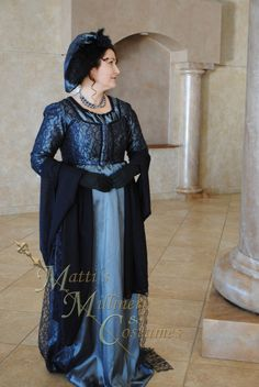 CUSTOM Evening Formal Regency Jane Austen Ball Gown Dress in your choice of colors. via Etsy.