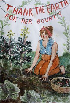 Mabon, Mother Earth, Mother Nature, All Nature, Garden Art, Garden Studio, Garden Beds, Art Inspo, Illustration Art