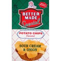Vintage Bag of Sour Cream & Onion Potato Chips #bettermade85years