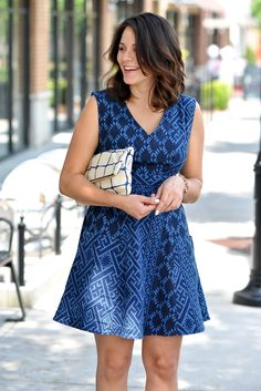 Image Via My Style Vita in the Indigo Fit and Flare Dress