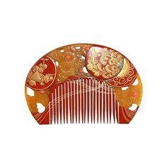 Japanese Antique Traditional Maiko Comb and Hair-pin set Vintage Hair Combs, Vintage Hair Accessories, Tiara Hairstyles, Vintage Hairstyles, Japanese Kimono, Japanese Art, Japanese Culture, Geisha, Bling Bling
