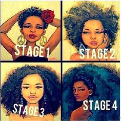 What length stage are you in? 1,2,3,or 4?   Whatever stage you're in, embrace it, nurture it, and most importantly WORK IT! ~ #HairFinity #HairFinityhairvitamins #HairFinityvitamins