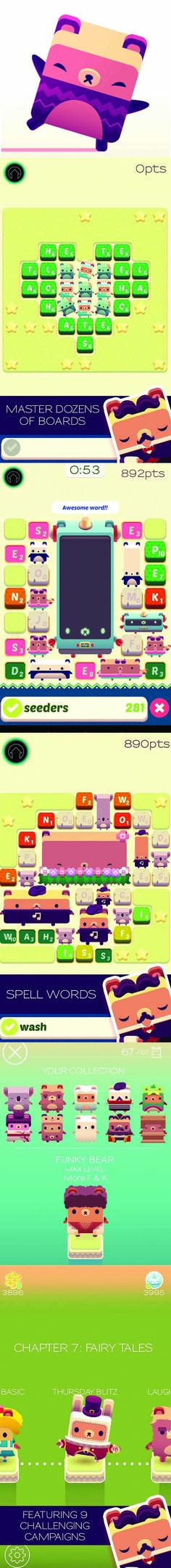 alpha bear - cute puzzle app