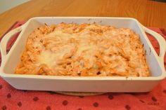 Easy Blush Chicken & Pasta Bake