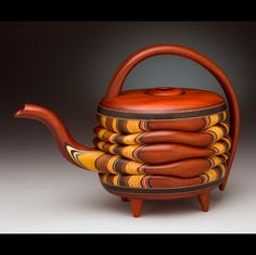 wood teapot by studiomarthacollins.com