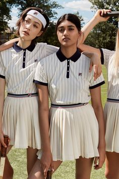 FILA + Urban Outfitters Team Up for a Tennis-Inspired Collection Preppy Mode, Preppy Style, Sport Style, Sport Sport, Sport Wear, Sporty Outfits, Girl Outfits, Fashion Outfits, Tennis Fashion