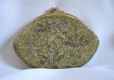 VINTAGE 50s60s Art Glass Hand Beaded Coin Change by GoodBuyGrace, $15.00