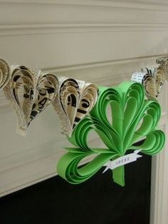 Lucky Garland: Decorate your mantel with a handmade paper banner. Plus, you can customize it with your last name or favorite Irish saying.