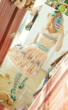 Coordinate with Emily Temple Cute spoon dress. #EmilyTempleCute #otome #otomekei