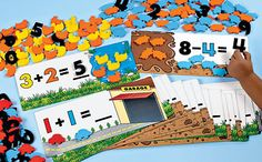 addition/ subtraction mats and worksheets