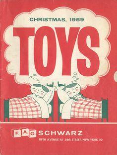 dreaming of toys cover for F.A.O. Schwarz Christmas Catalog c. 1959