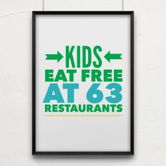 HUGE list of Restaurants Kids Eat Free at!