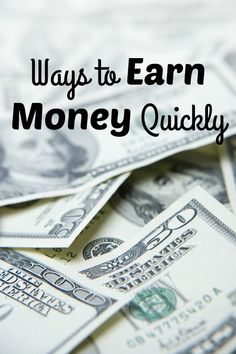 We have all be in situations where we need to earn money fast overwhelmed trying to get out of debt or an emergency situation and earn money fast.