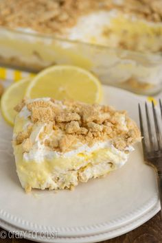 No-Bake Lemon Dessert | crazyforcrust.com | Full of lemon curd flavor and Golden Oreos!