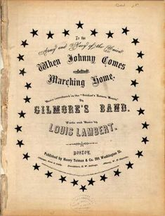 Sheet Music - When Johnny comes marching home; Soldiers Return March