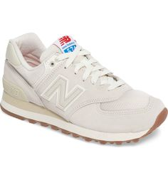 New Balance '574' Sneaker (Women) in Sea Salt/Sea Salt, $79.95