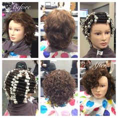 Spiral perm were popular in the 90s and took ages to wind and straight back wrap with three rods on top front section going forward to create solutioingenieria