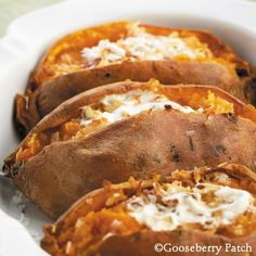 Gooseberry Patch Recipes: Twice-Baked Sweet Potatoes from 101 Christmas Recipes Cookbook
