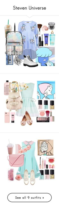 """Steven Universe"" by glitter-and-mermaids ❤ liked on Polyvore featuring H&M, Victoria's Secret, Clinique, T By Alexander Wang, Bobbi Brown Cosmetics, Wildfox, Dr. Martens, NARS Cosmetics, Urban Decay and sapphire"