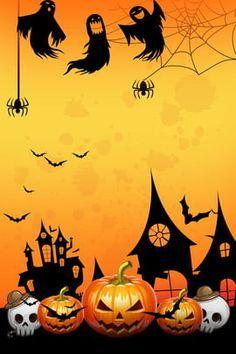 Halloween background with Funny Gingerbread Cookie Spooky Halloween, Halloween Imagem, Halloween Borders, Fröhliches Halloween, Feliz Halloween, Easy Halloween Decorations, Halloween Poster, Halloween Haunted Houses, Halloween Festival