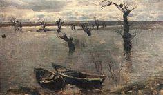 Исаак Ильич Левитан » Малоизвестные картины, пейзажи » Разлив. Весна