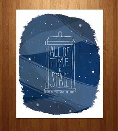 """All of Time & Space"" Doctor Who Art Print by Nan Lawson on Scoutmob Shoppe"