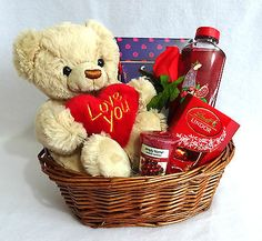 #Valentines day gift #basket/hamper, for her, #wife, girlfriend. chocolate, bath.,  View more on the LINK: http://www.zeppy.io/product/gb/2/292019955352/