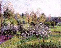 Camille Pissarro Apple Trees in Blossom, Eragny print for sale. Shop for Camille Pissarro Apple Trees in Blossom, Eragny painting and frame at discount price, ships in 24 hours. Cheap price prints end soon. Renoir, Paul Cezanne, Post Impressionism, Impressionist Art, Oil Canvas, Canvas Art, Claude Monet, Camille Pissarro Paintings, Pissaro Paintings
